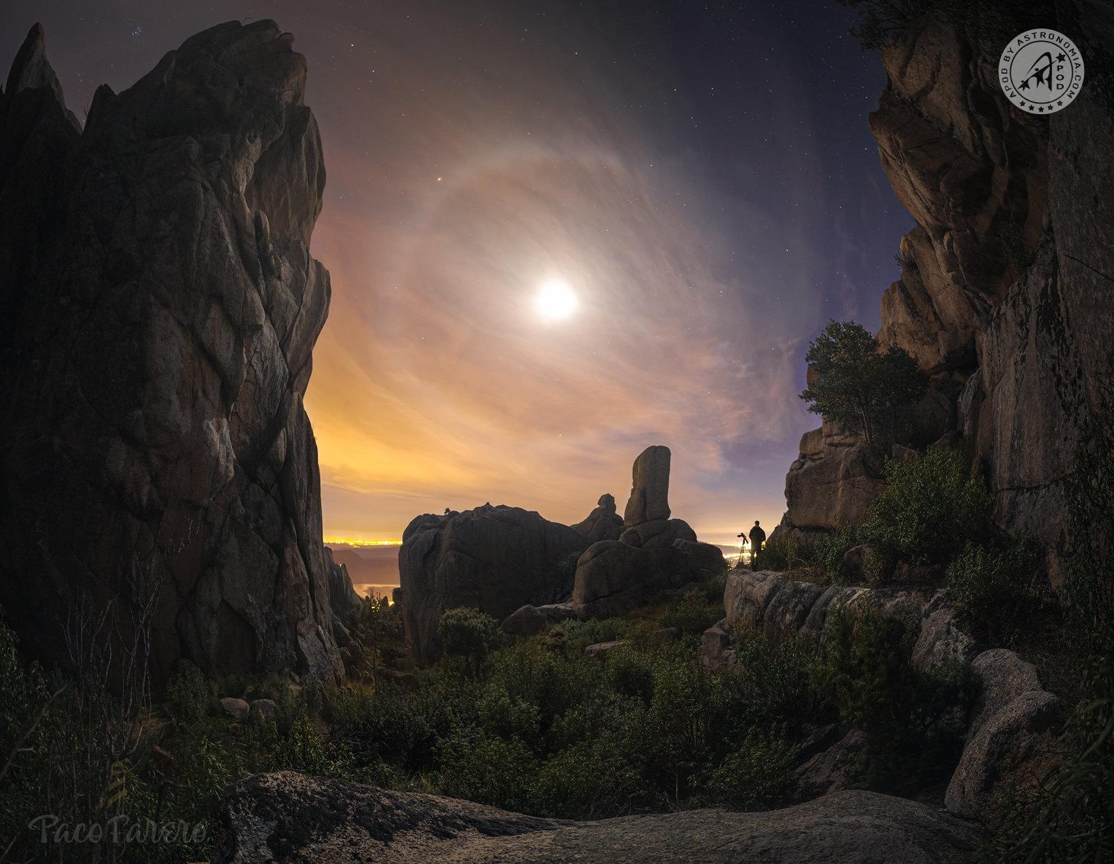 Alone lunare, marte e Pleiadi