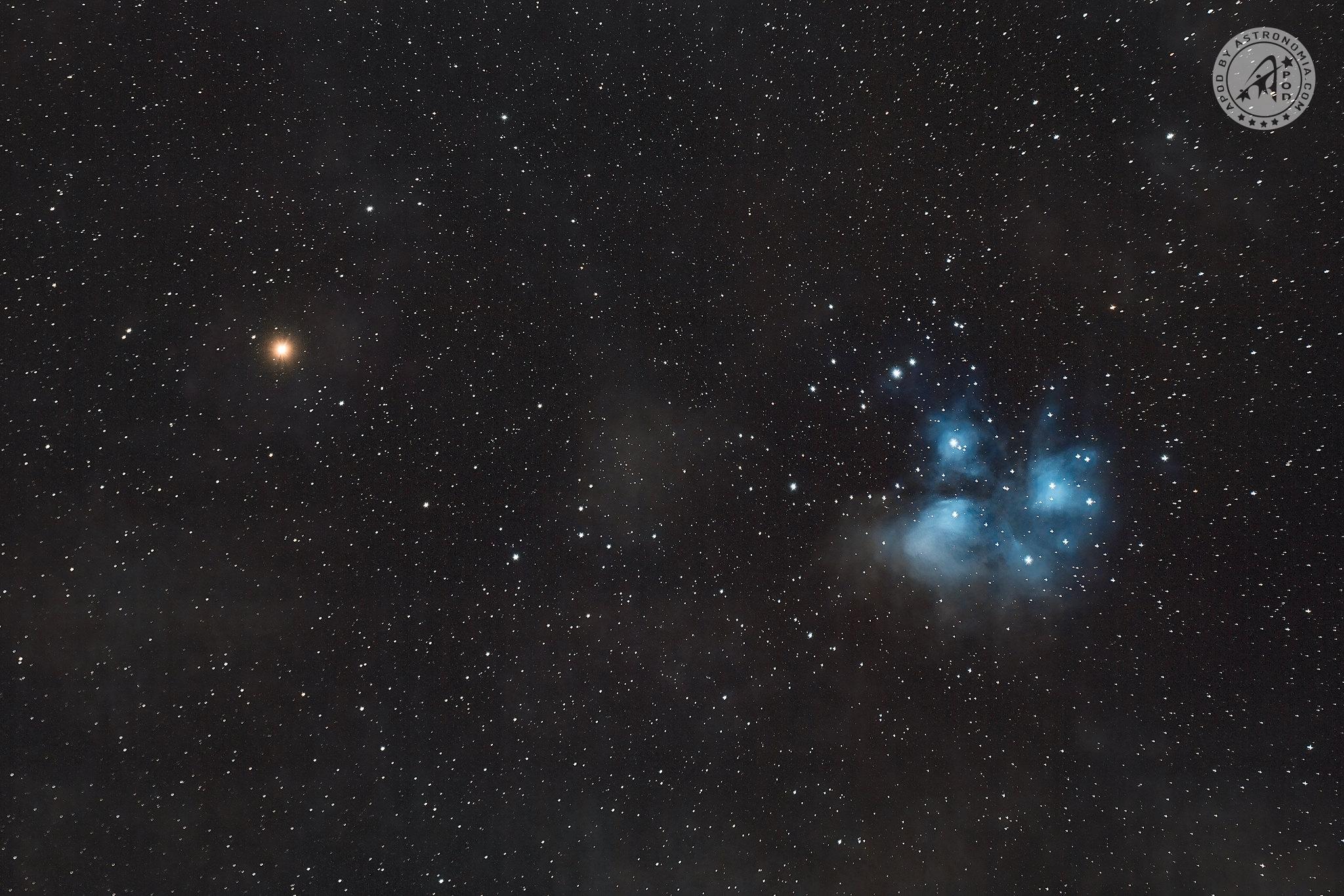 Congiunzione Marte - Pleiadi